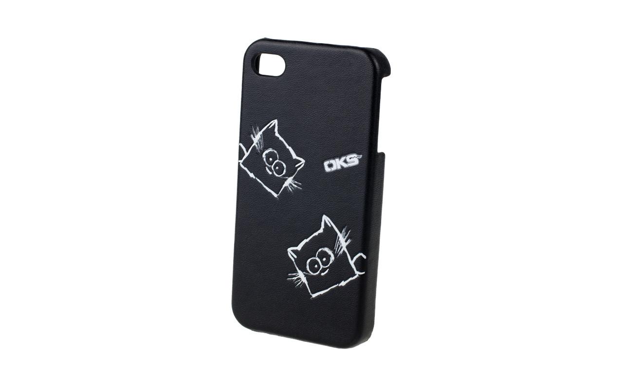 Клипкейс EMBO КОШКА Apple iPhone5 и/кожа black