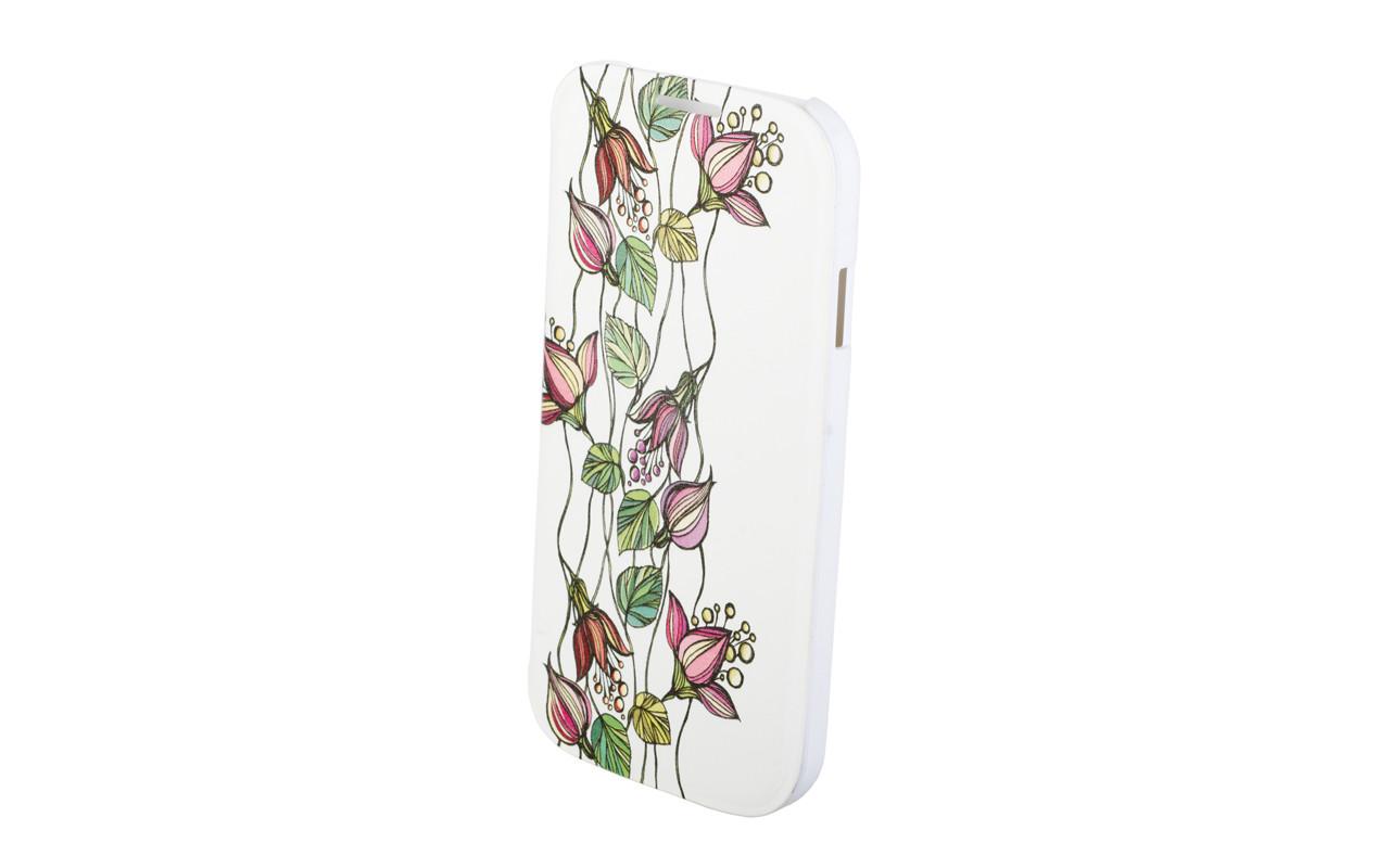 Чехол Флип Кейс Для Apple iPhone 5, 5S, Пластиковый, Белый, InterStep