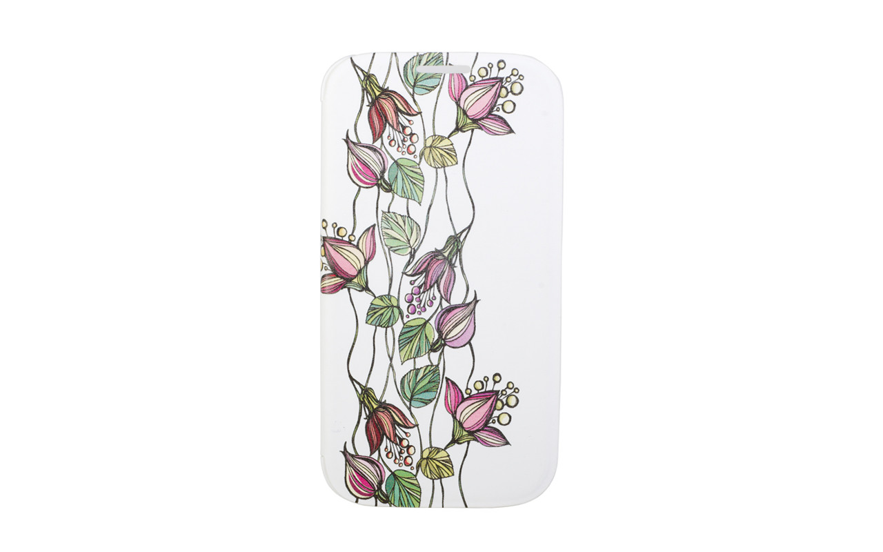 Чехол Флип Кейс Для Samsung Galaxy S4, Пластиковый, Белый, InterStep