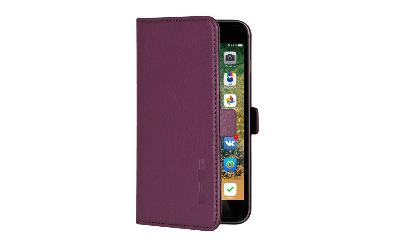 Универсальный Чехол Книжка Для Смартфона с Экраном от 4,7 до 5 дюймов Бордовый, InterStep NEXT