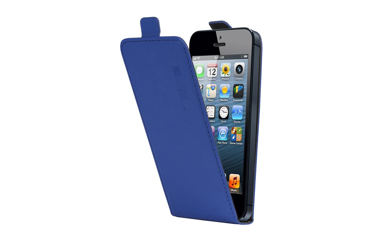 Универсальный Чехол Флип Кейс, Для Смартфона с Экраном от 4,7 до 5 дюймов Синий, InterStep NEXT