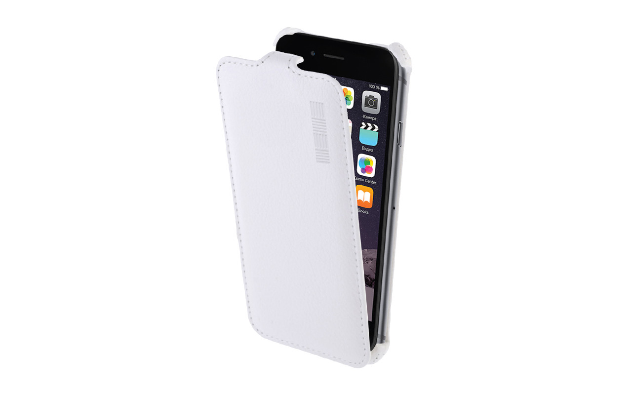 Чехол Флип Кейс Для Nokia Lumia 530, Белый, Кожаный, InterStep CRAB