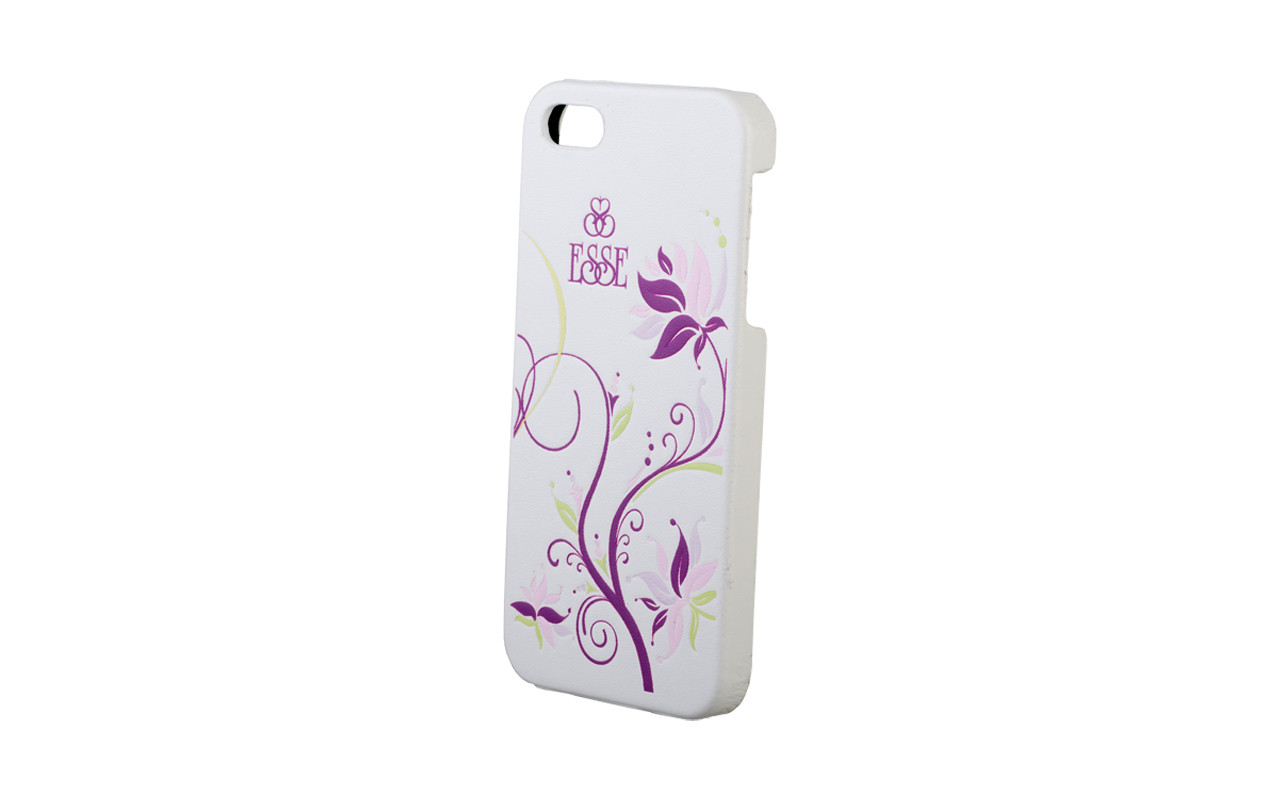 Клипкейс EMBO ФЛЕР Apple iPhone4 и/кожа white