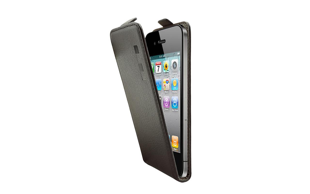 Универсальный Чехол Флип Кейс, Для Смартфона с Экраном от 4 до 4,7 дюймов Черный, InterStep NEXT