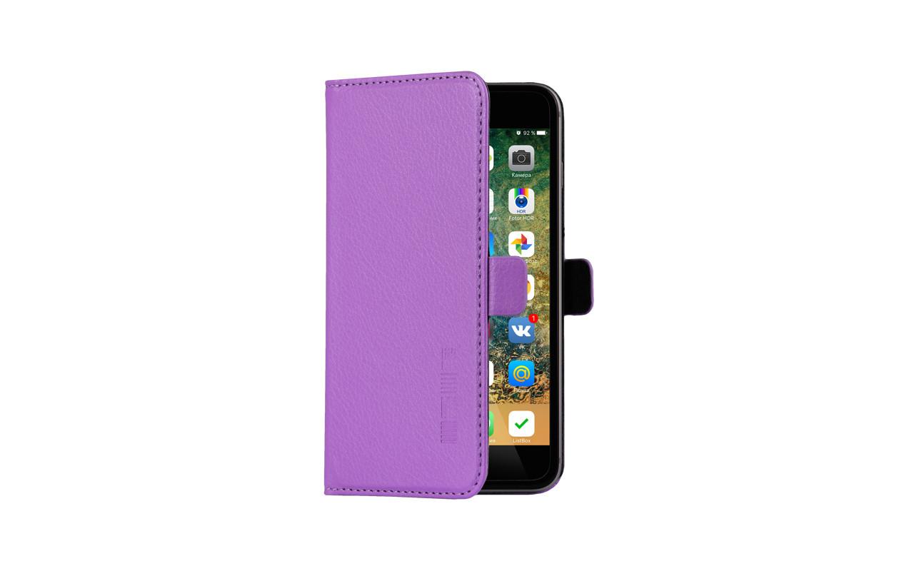 Универсальный Чехол Книжка Для Смартфона с Экраном от 5 до 5,2 дюймов Фиолетовый, InterStep NEXT