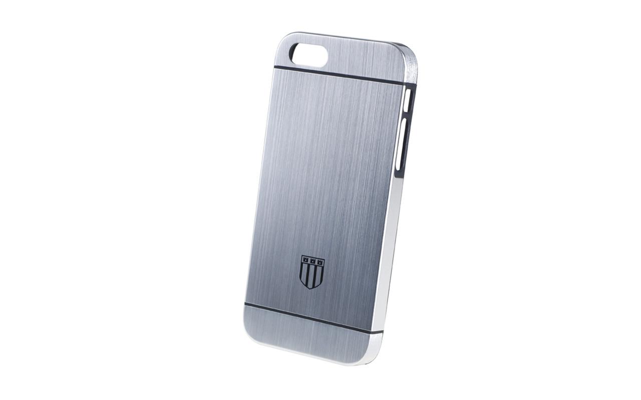 Клипкейс METAL HYBRID Apple iPhone5/5S пласт.silver