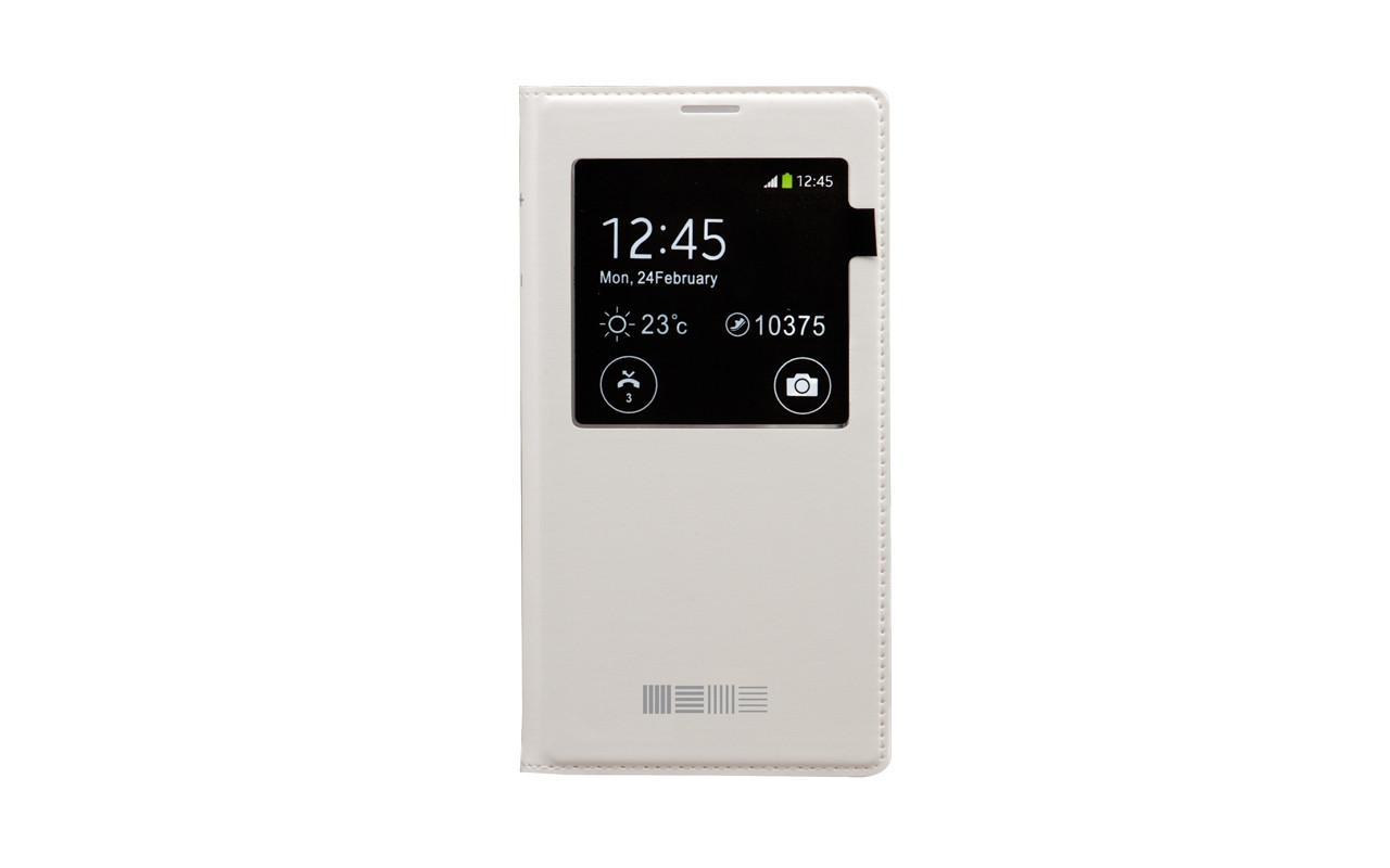 Чехол Книжка Для Samsung Galaxy Note 2, Пластиковый, Белый, InterStep