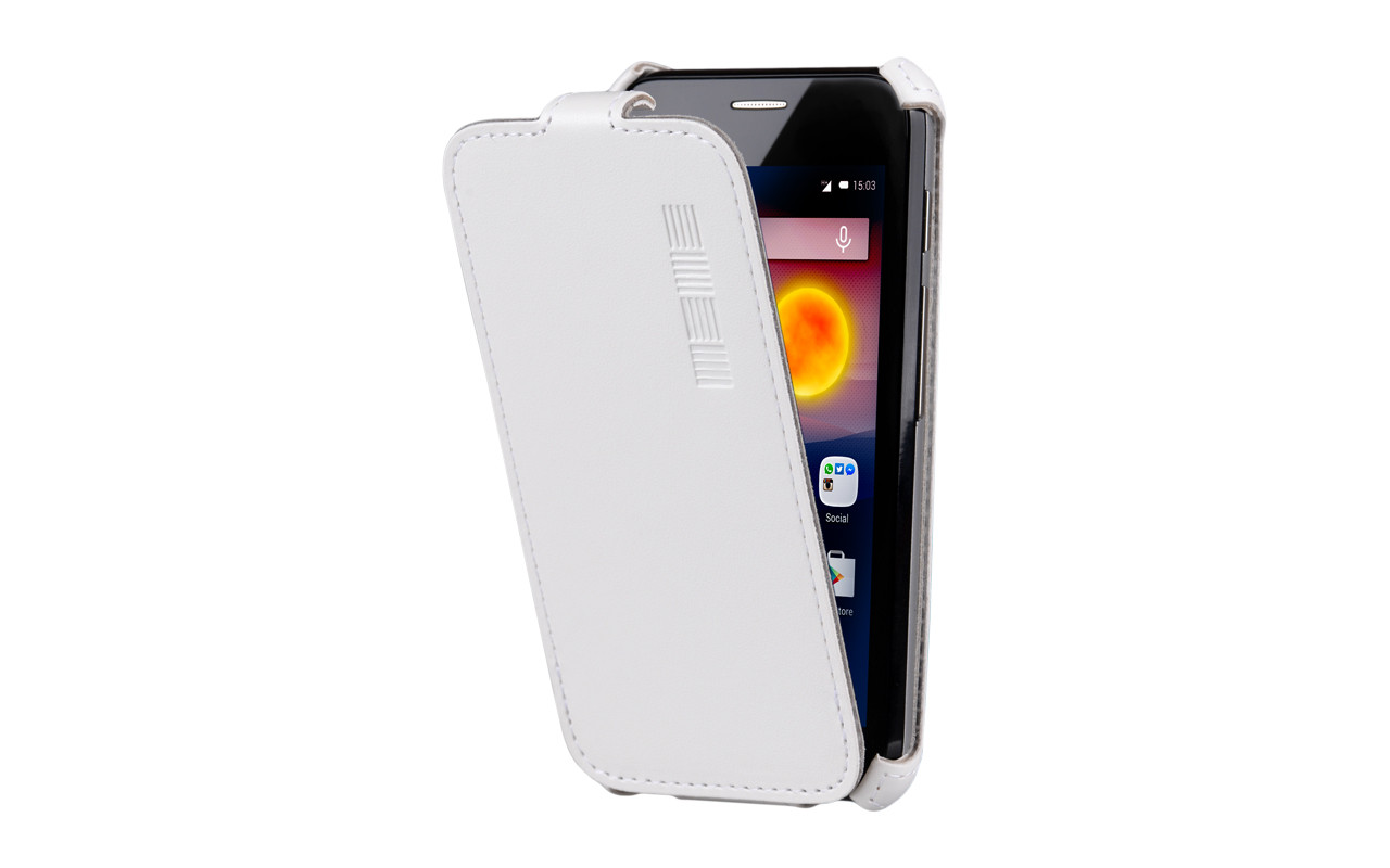 Чехол Флип-Кейс Для Телефона - Highscreen Five Pro, interstep CRAB белый