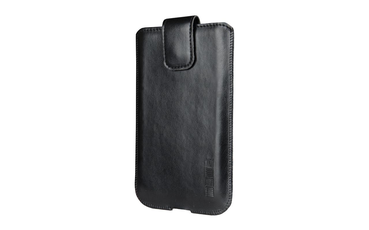 Чехол сумка Для телефона, Кожаный, Черный, InterStep IS MARS Р-100