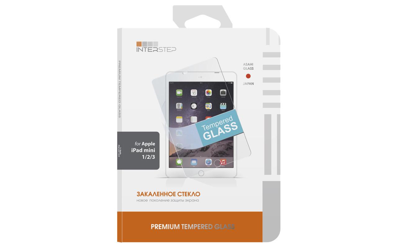 Закаленное защитное стекло на экран для iPad mini 1/2/3 InterStep