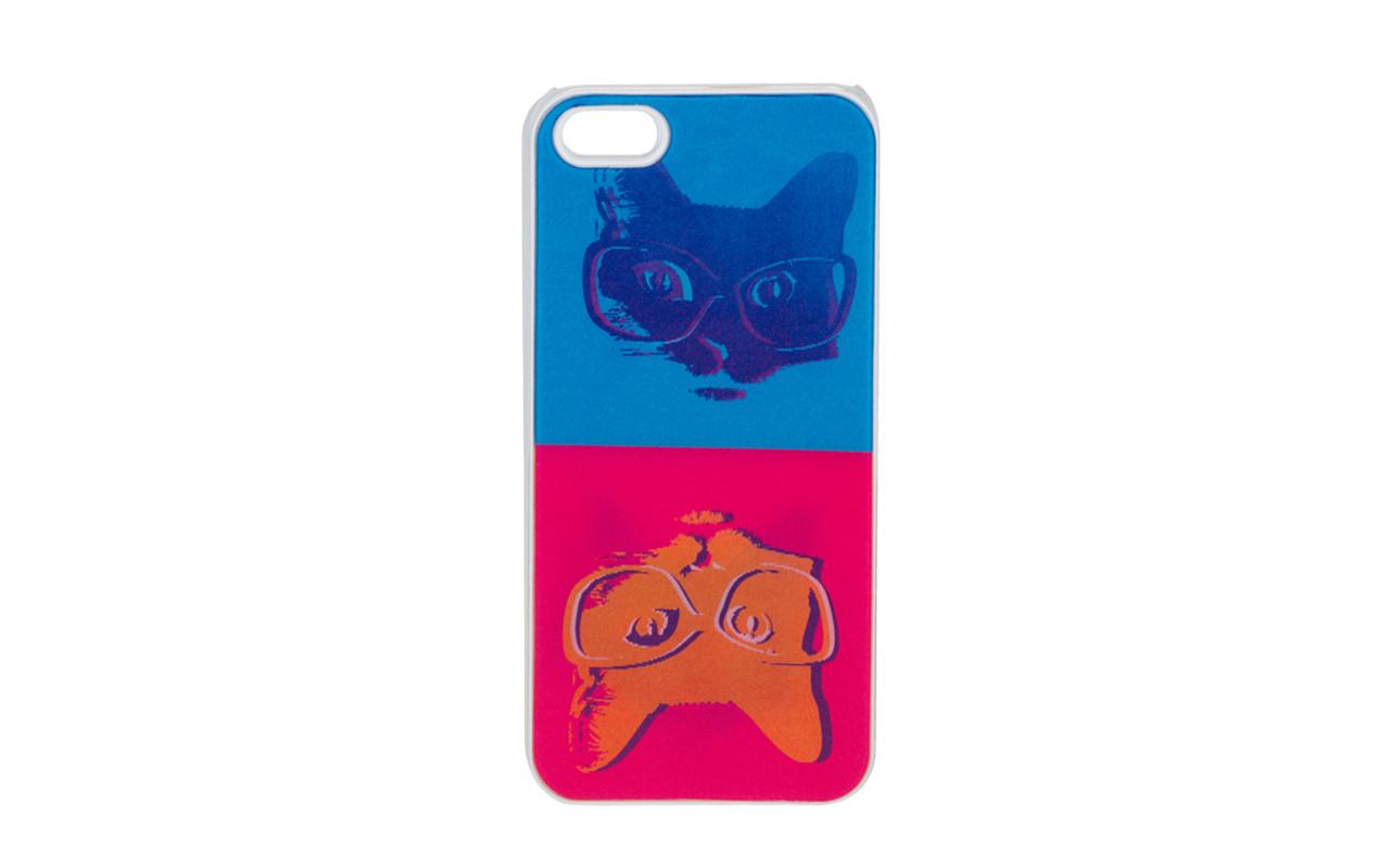 Клип Кейс - Чехол накладка Для Samsung Galaxy S4, Черный - Коты В Очках, InterStep