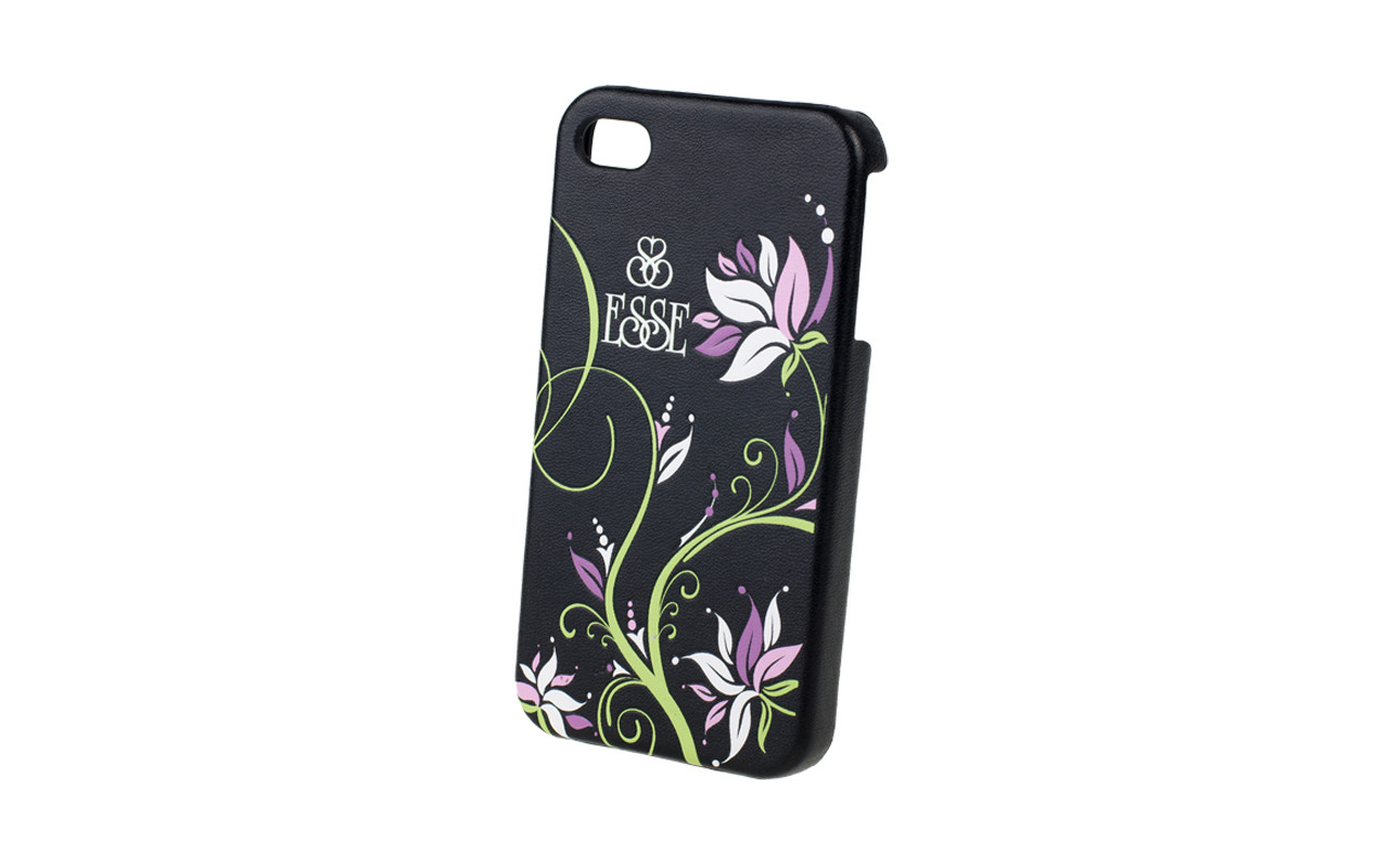 Клипкейс EMBO ФЛЕР Apple iPhone4 и/кожа black