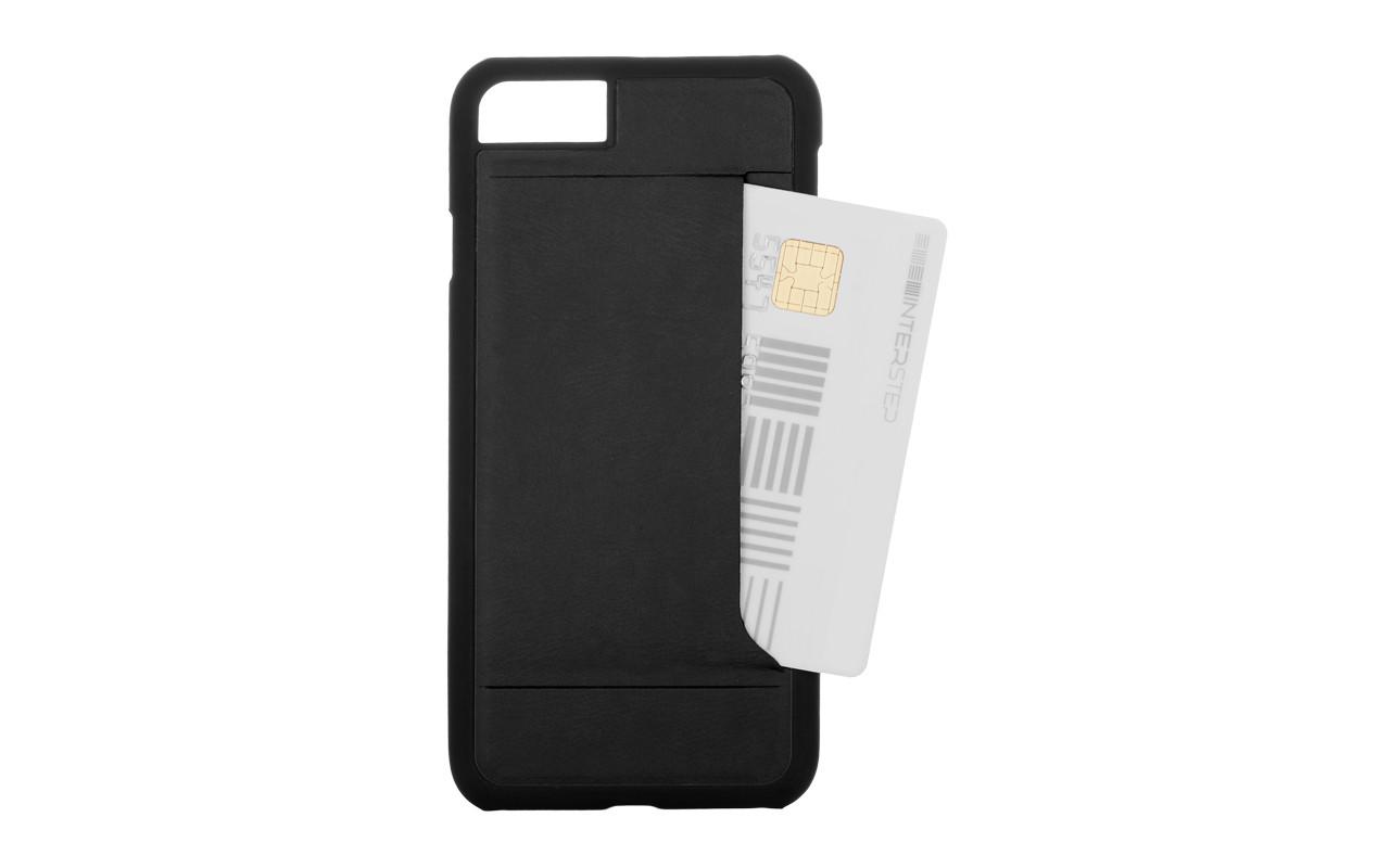 Чехол Накладка Для Телефона - Apple iPhone 6, interstep CARD-CLIP черный InterStep
