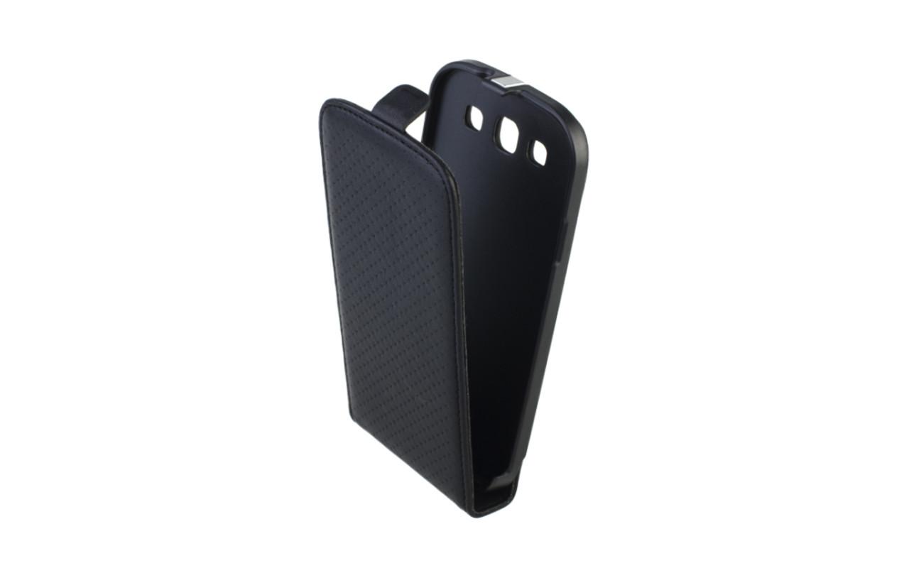 Чехол Флип Кейс Для Samsung Galaxy S3, Кожаный, Черный, InterStep SLIM