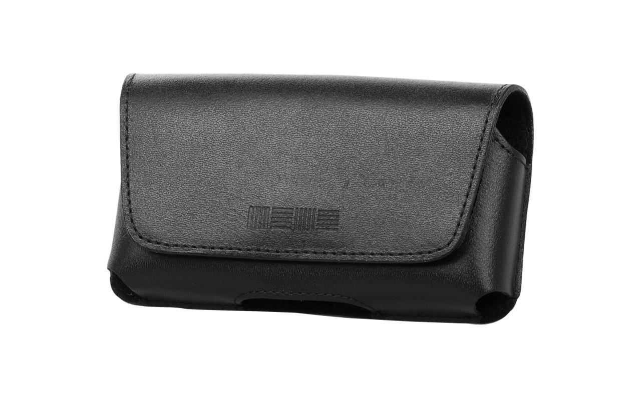 Чехол сумка Для телефона, Кожаный, Черный, InterStep СИТИ Р-08
